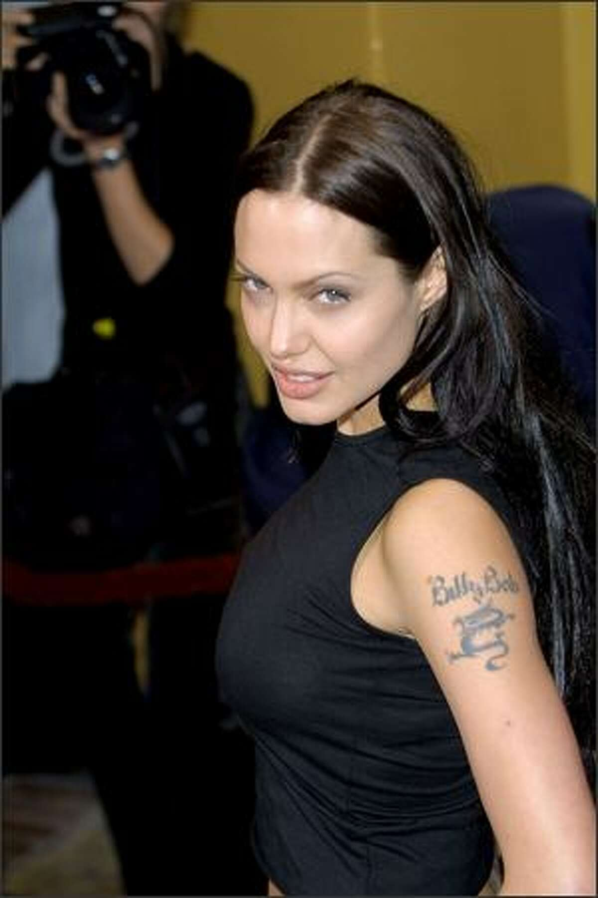 Angelina Jolie arrives at the world premiere of the film