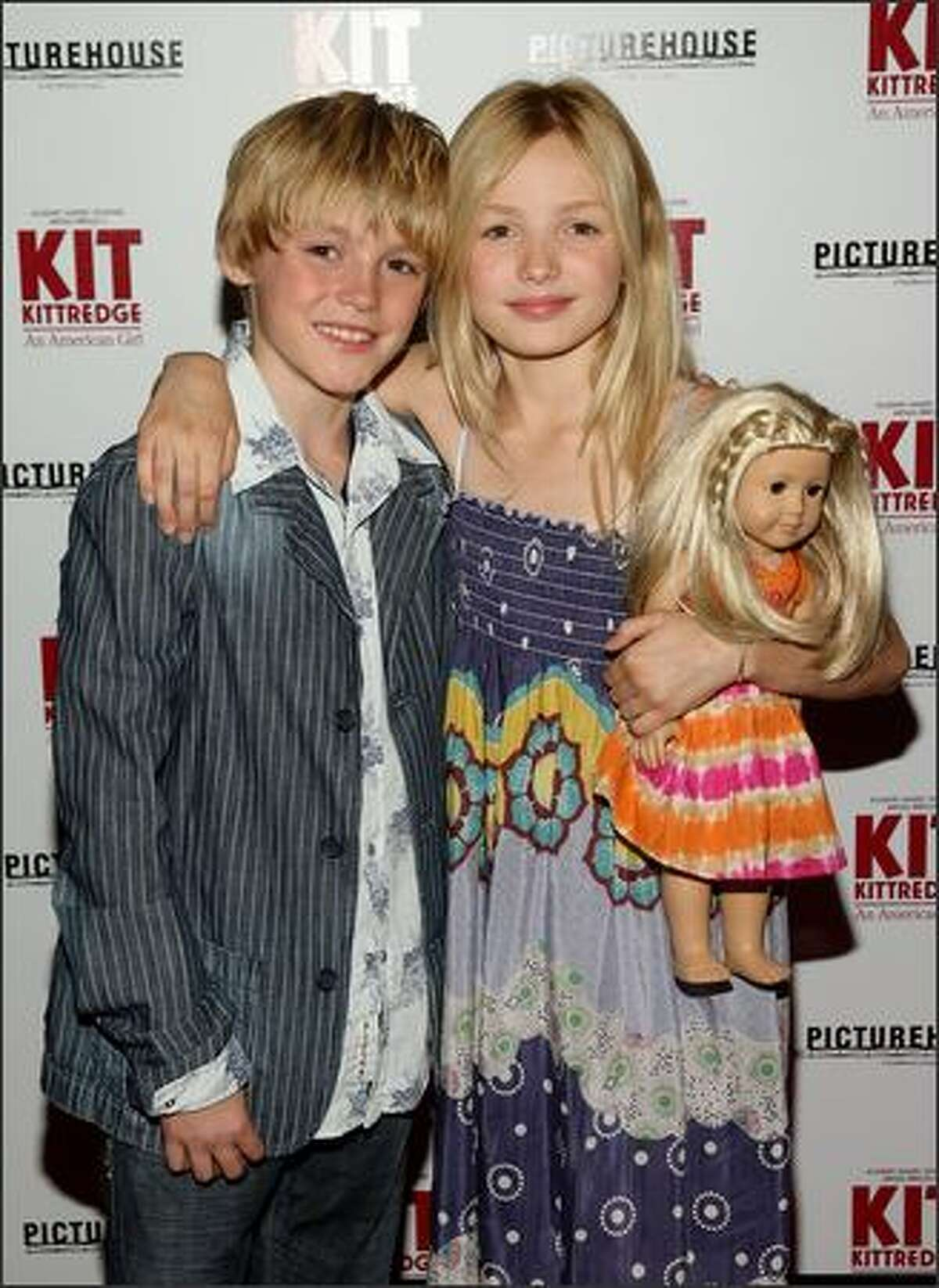 Actors and siblings Spencer List and Peyton List attend the premiere.