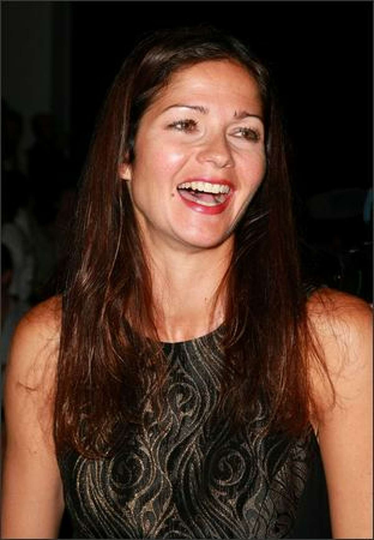 Actress Jill Hennessy attends the Nicole Miller show.
