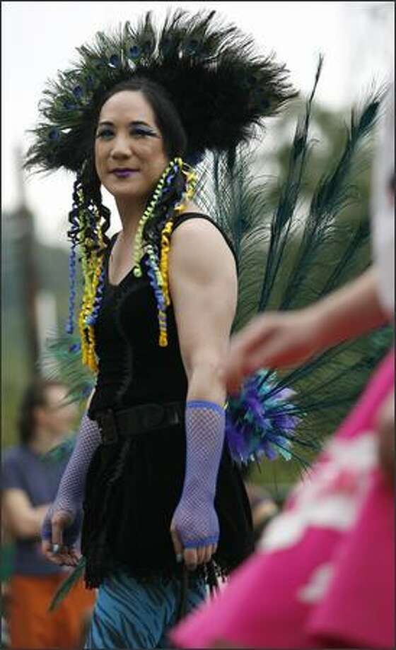 A participant with an elaborate hair style. Photo: Kristine Paulsen, Seattle Post-Intelligencer