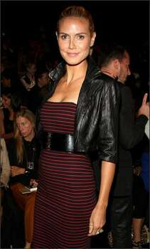 TV personality and model Heidi Klum attends the Michael Kors show. Photo: Getty Images