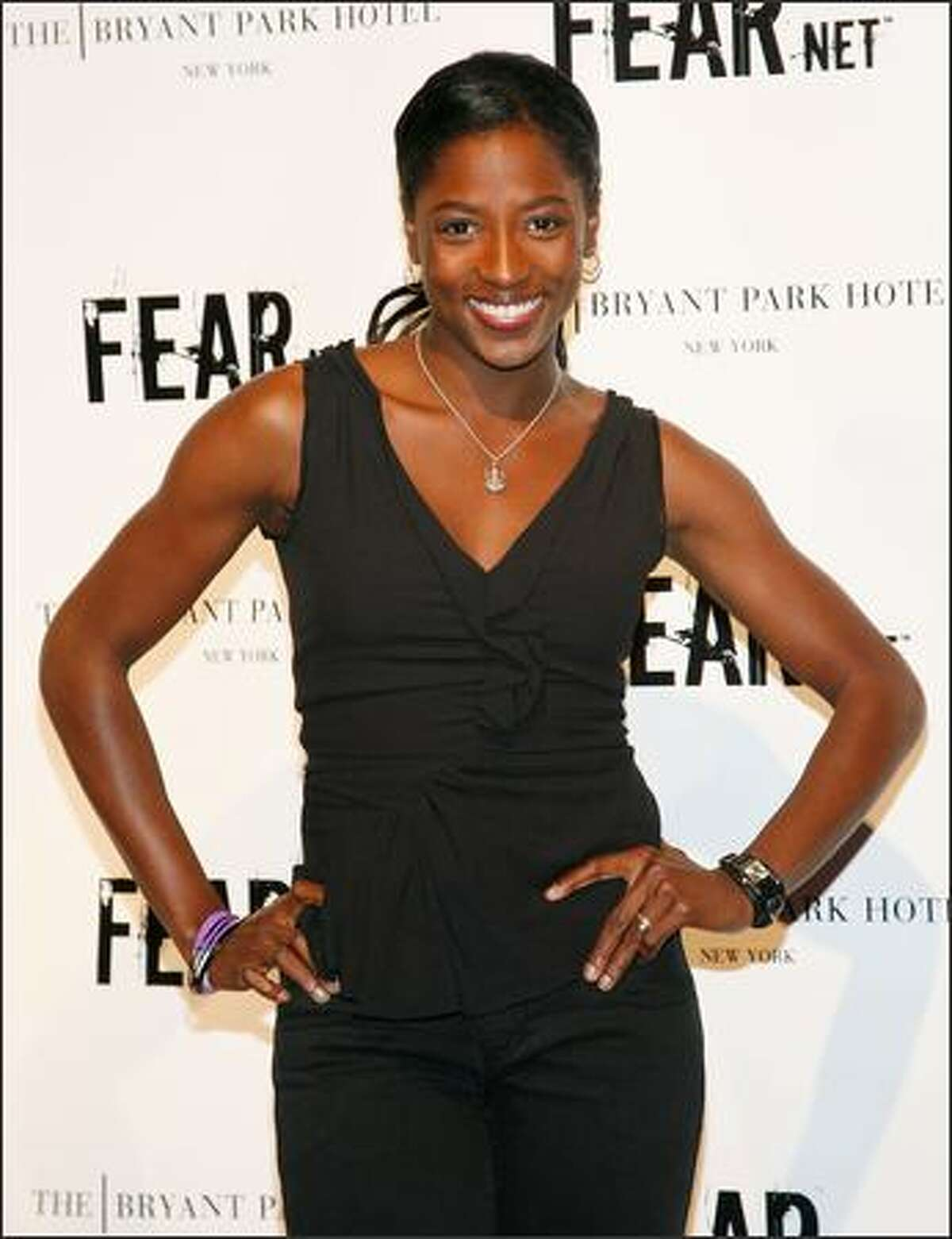 Actress Rutina Wesley attends FEARnet's 2nd anniversary party at The Cellar Bar at Bryant Park Hotel on on Tuesday in New York City.