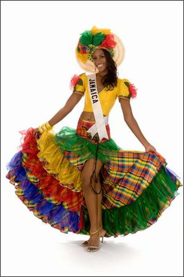 April Jackson, Miss Jamaica 2008. Photo: Miss Universe L.P., LLLP
