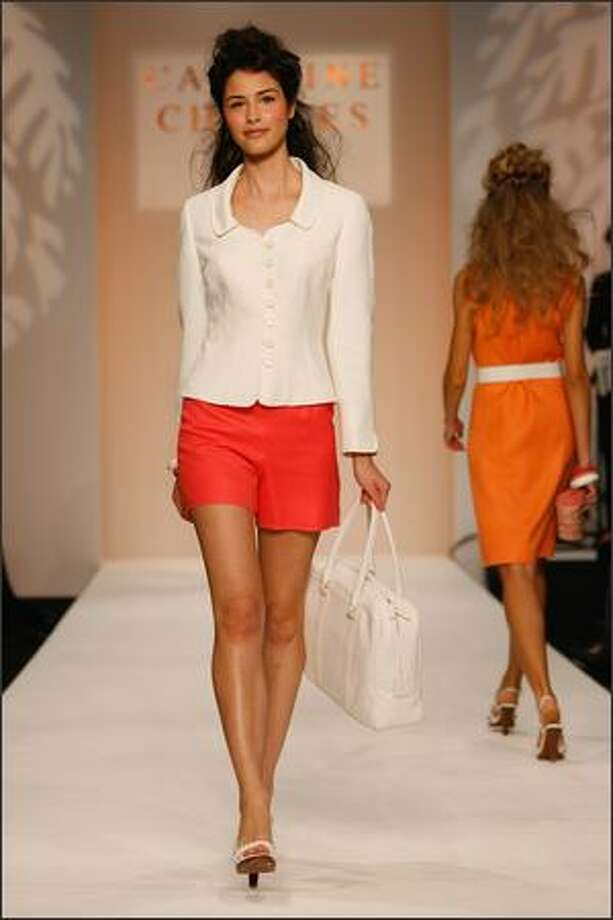 A model walks down the catwalk during the Caroline Charles show at London Fashion Week Spring/Summer 2009 in London, England. Photo: Getty Images