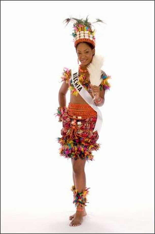 Stephanie Oforka, Miss Nigeria 2008. Photo: Miss Universe L.P., LLLP