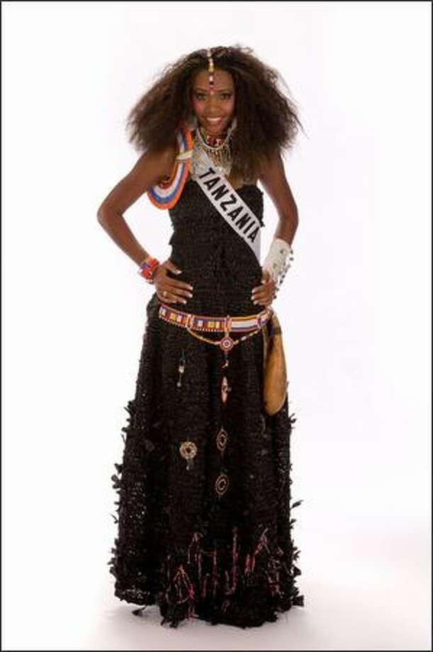 Amanda Ole Sulul, Miss Tanzania 2008. Photo: Miss Universe L.P., LLLP