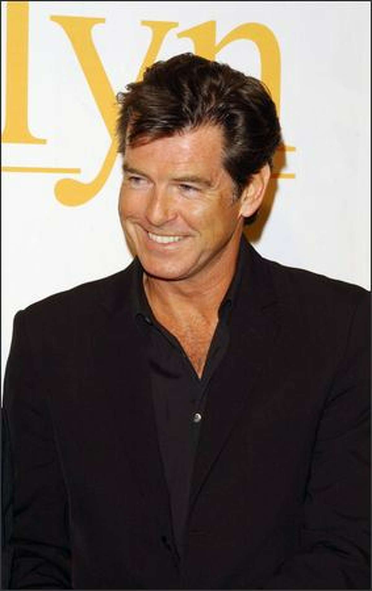 Actor Pierce Brosnan attends the Spanish premiere of the new movie