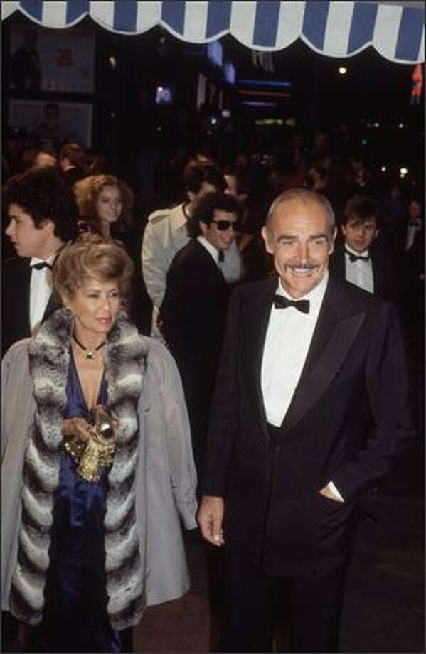 1983: Film star Sean Connery at the premiere of the James Bond film, 'Never Say Never Again'. Photo: Getty Images