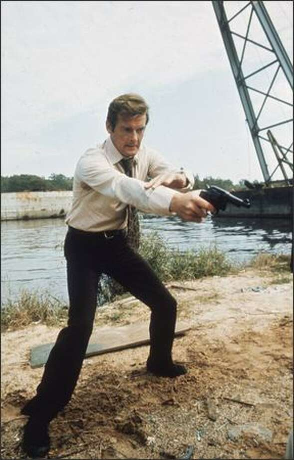 1973: British actor Roger Moore filming the James Bond adventure 'Live and Let Die'. Photo: Getty Images