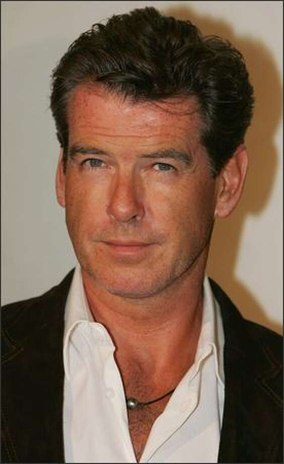 "Actor Pierce Brosnan attends the InStyle magazine book launch of ""Precious"" by photographers Melanie Dunea and Nigel Parry at Chateau Marmont on Sunset Boulevard September 21, 2004 in Los Angeles, California. Photo: Getty Images"