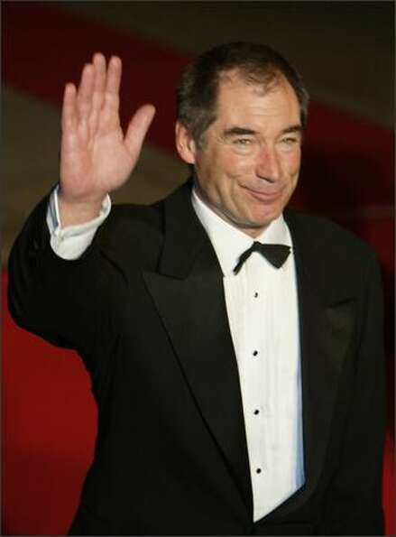 British actor and former James Bond Timothy Dalton arrives for the world premiere of the James Bond