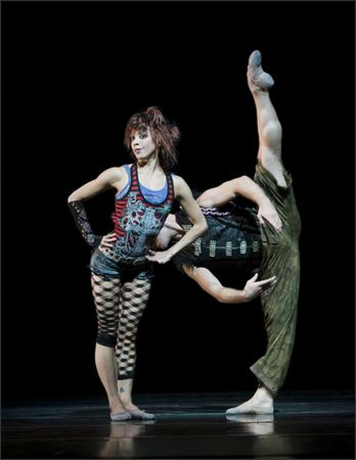 (L-R) Pacific Northwest Ballet principal dancer Kaori Nakamura and guest artist Charlie Neshyba-Hodges in the world premiere of Twyla Tharp's Afternoon Ball.