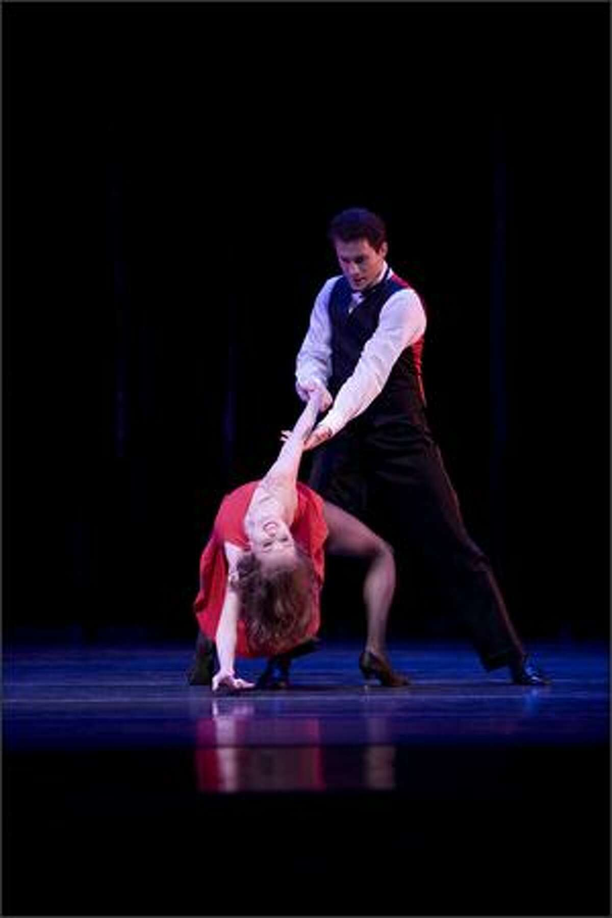 Pacific Northwest Ballet principal dancer Louise Nadeau and soloist Seth Orza in Twyla Tharp's Nine Sinatra Songs.