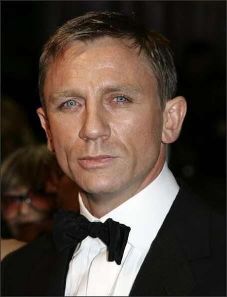 British actor Daniel Craig, who plays James Bond in 'Casino Royale', at the Odeon Leicester Square o