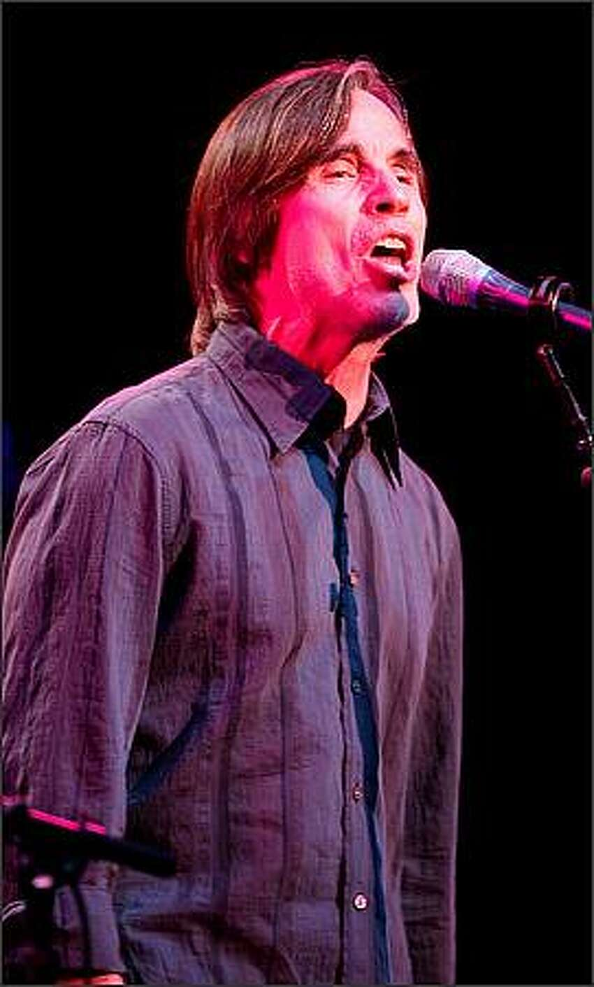 Jackson Browne performs at McCaw Hall in Seattle on Monday night.
