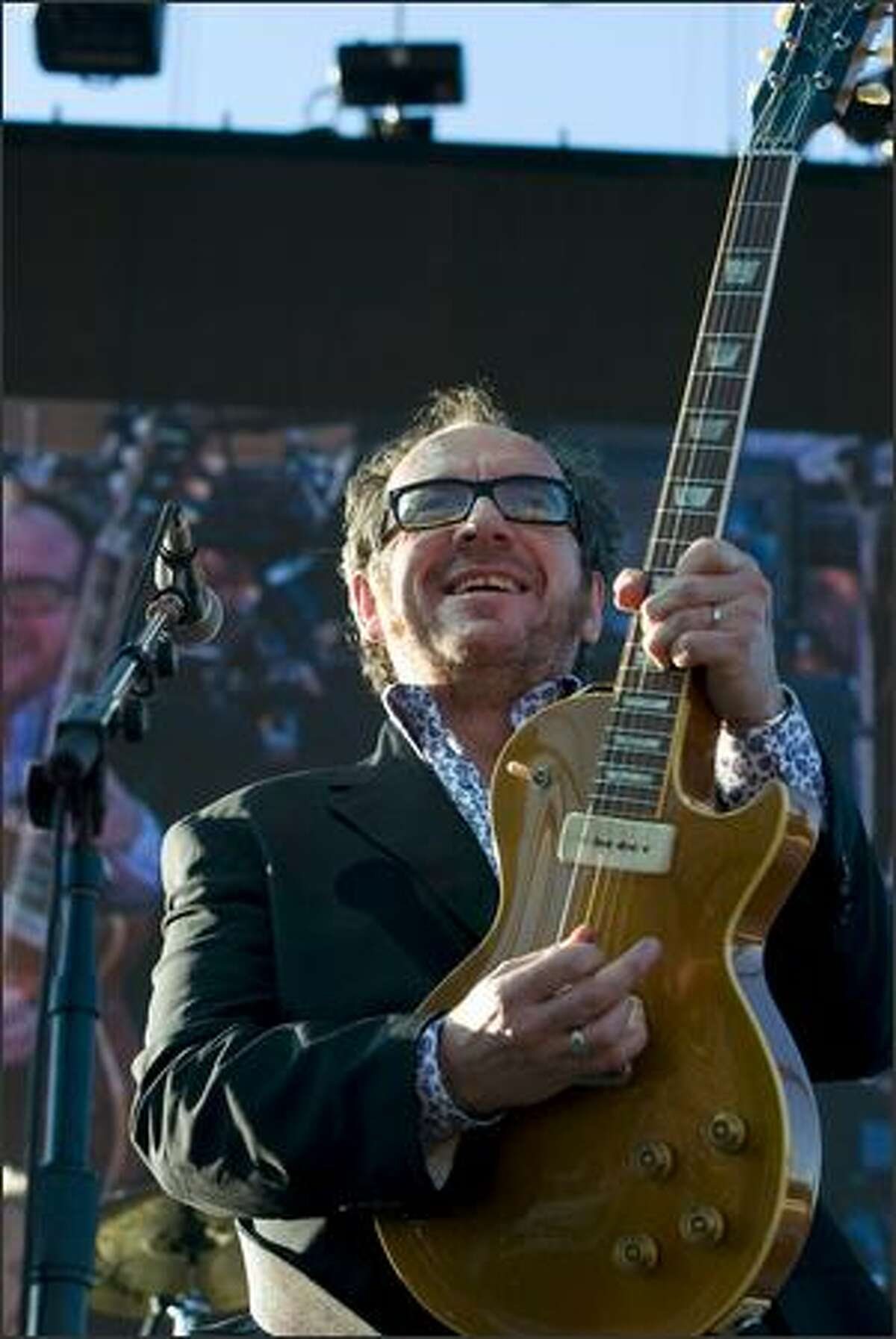 Elvis Costello performs with the Imposters at the Gorge Amphitheatre.