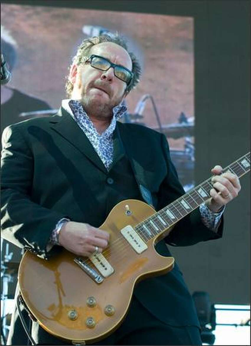 Elvis Costello and the Imposters perform at the Gorge Amphitheatre.