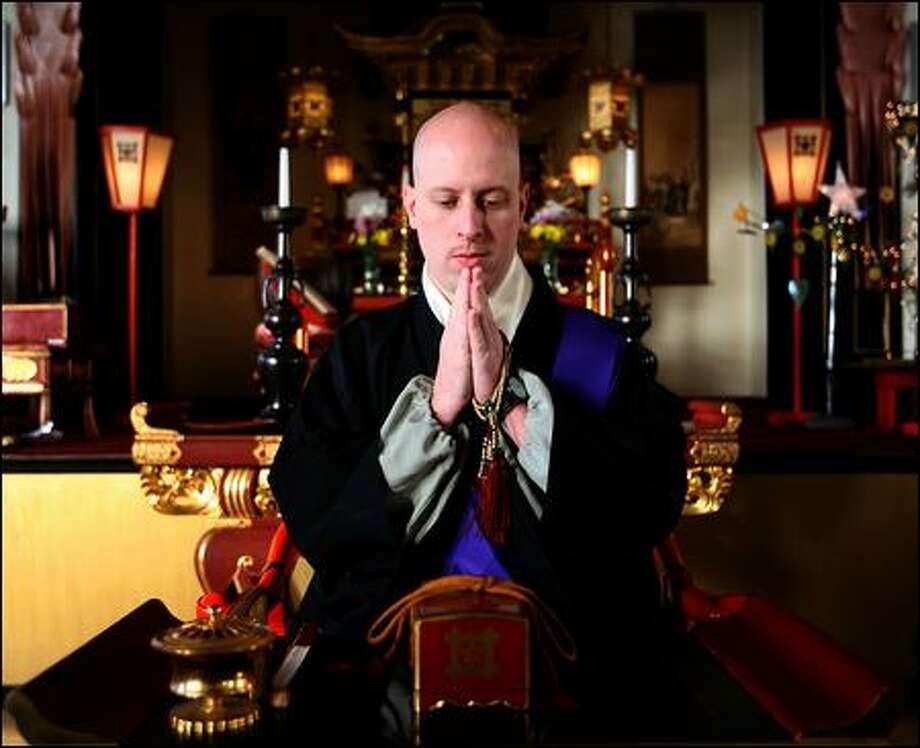 The Rev. Kanjin Cederman is the new Buddhist minister at Seattle Nichiren Church. Photo: Scott Eklund/P-I