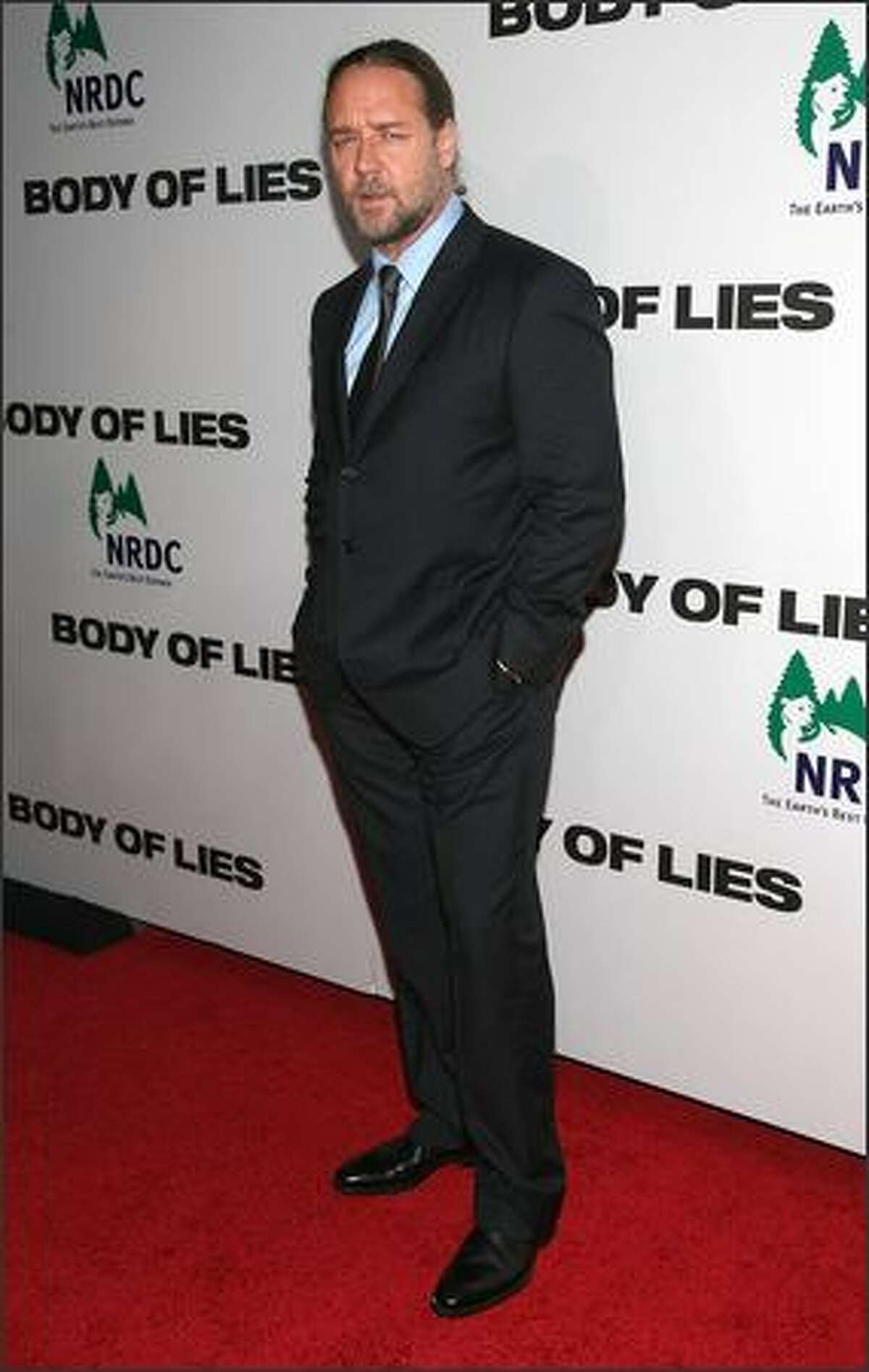 Actor Russell Crowe attends the premiere of