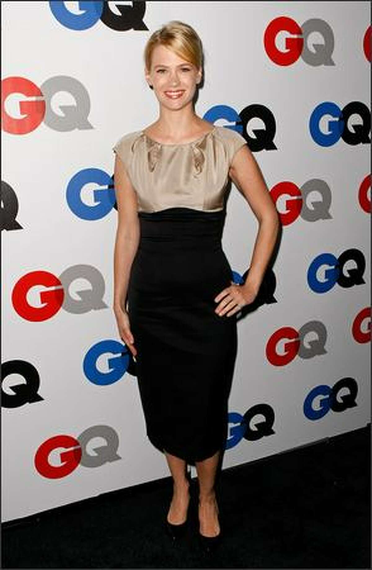 Actress January Jones arrives.