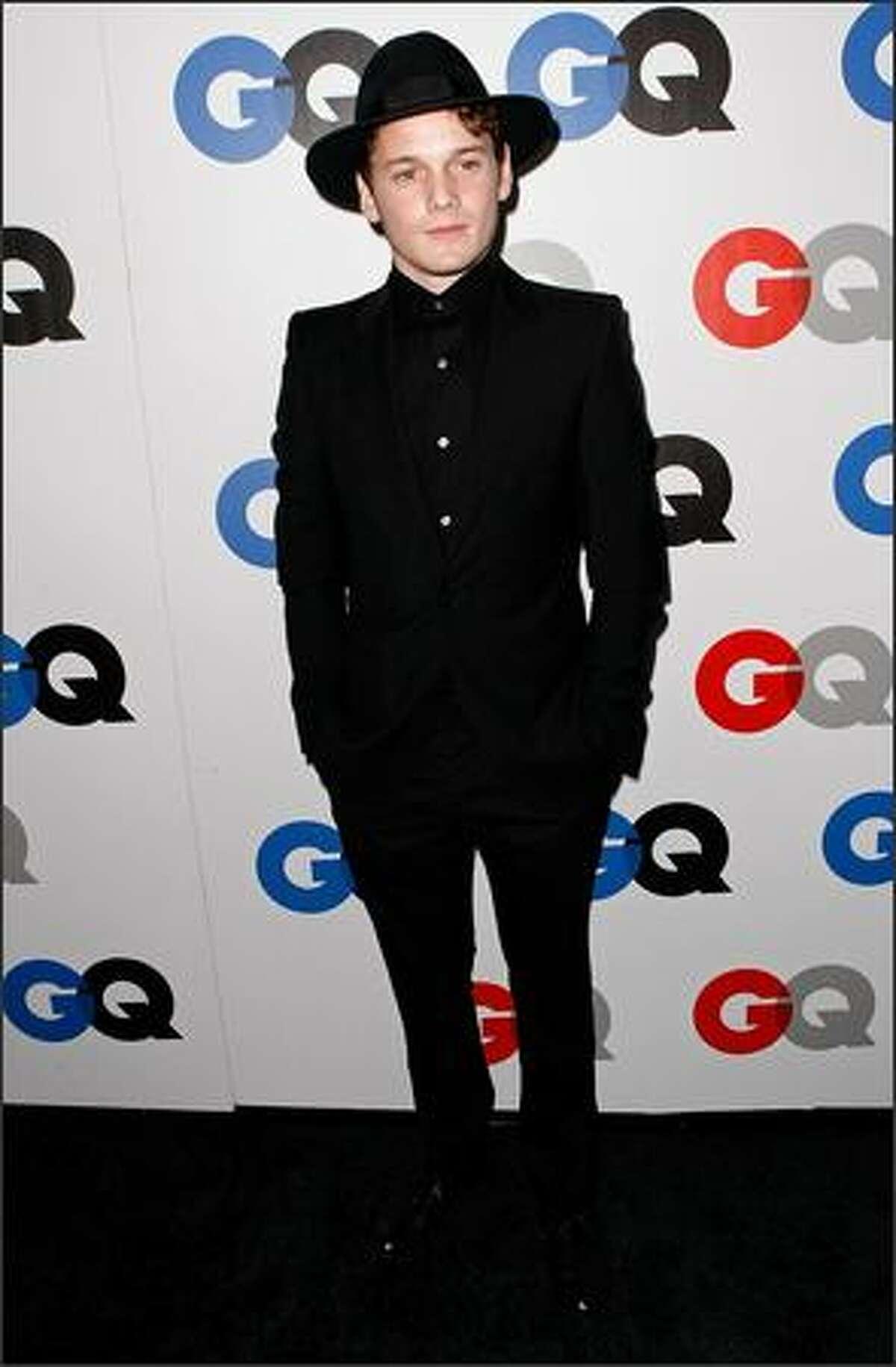 Actor Anton Yelchin arrives.