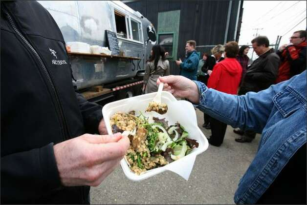 Skillet Street Food is a movable feast operating out of an Airstream trailer in Seattle.