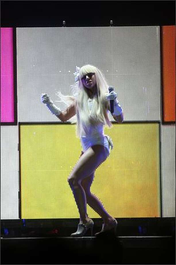 Lady Gaga performs at the Tacoma Dome in Tacoma on Saturday, No. 22, 2008. Photo: Mike Kane, Seattle Post-Intelligencer