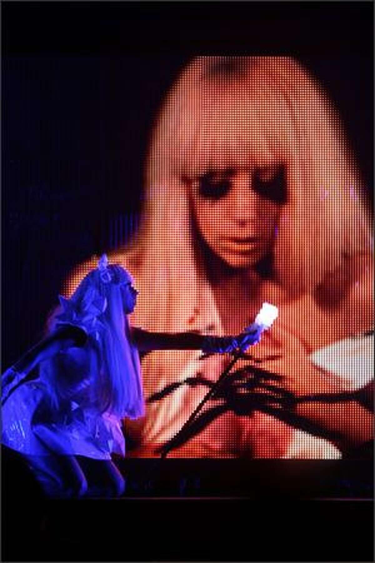 Lady Gaga performs at the Tacoma Dome in Tacoma on Saturday, No. 22, 2008.