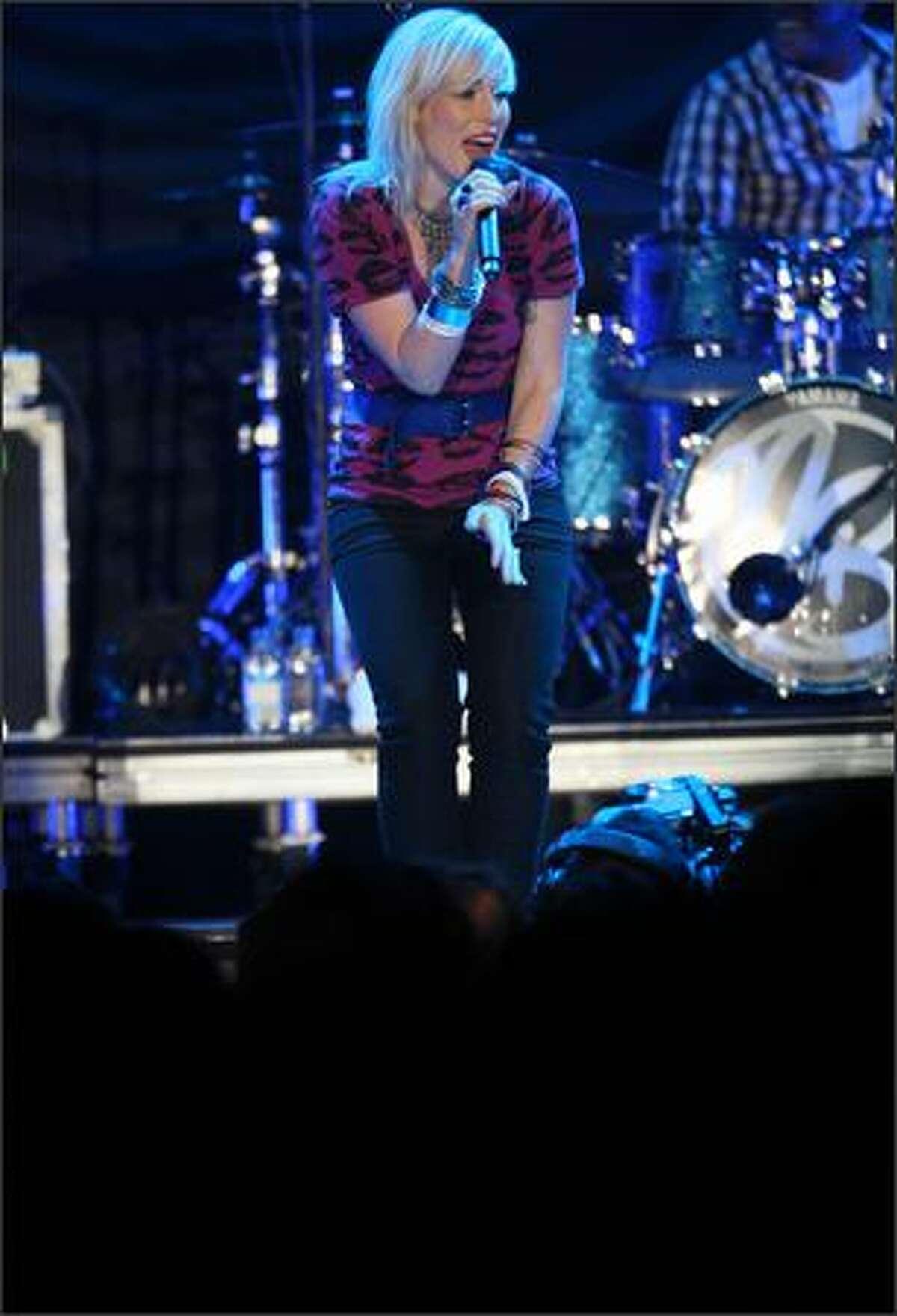 Natasha Bedingfield performs at the Tacoma Dome in Tacoma on Saturday, No. 22, 2008.