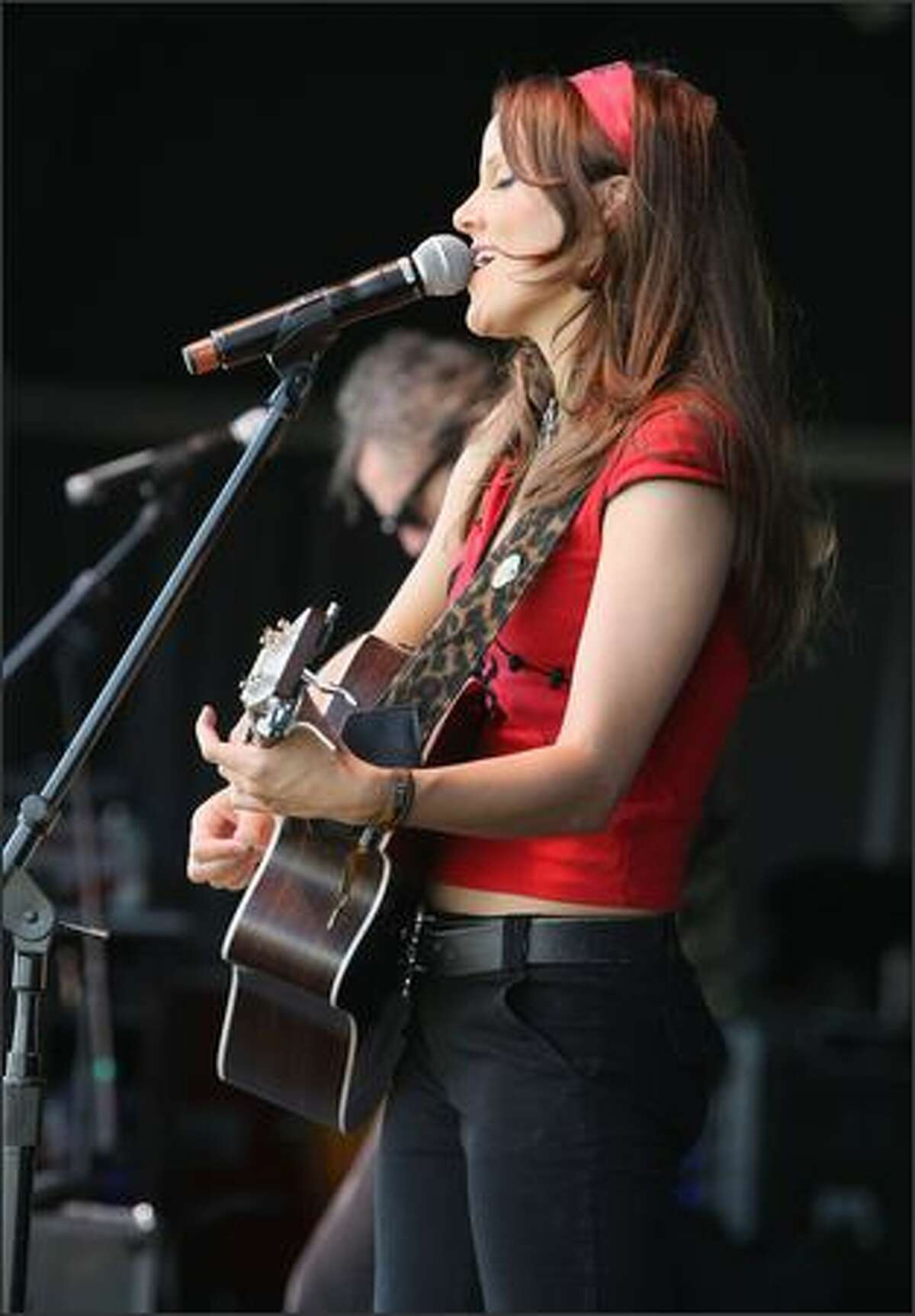 Lily Holbrook performs on stage during the 2008 All Points West Music and Arts Festival at Liberty State Park in Jersey City, New Jersey.