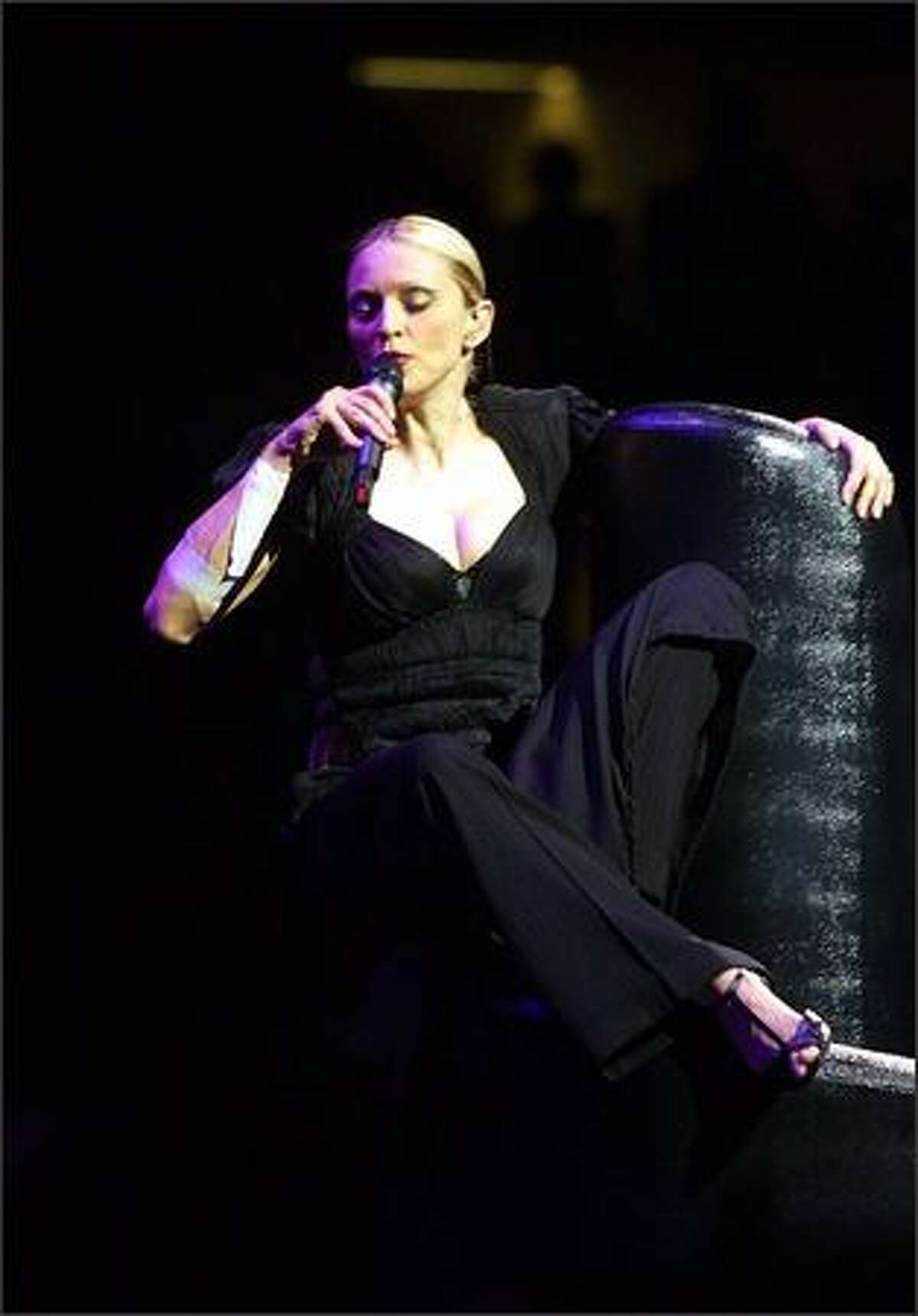 Madonna performs in concert July 25, 2001 at Madison Square Garden in New York.