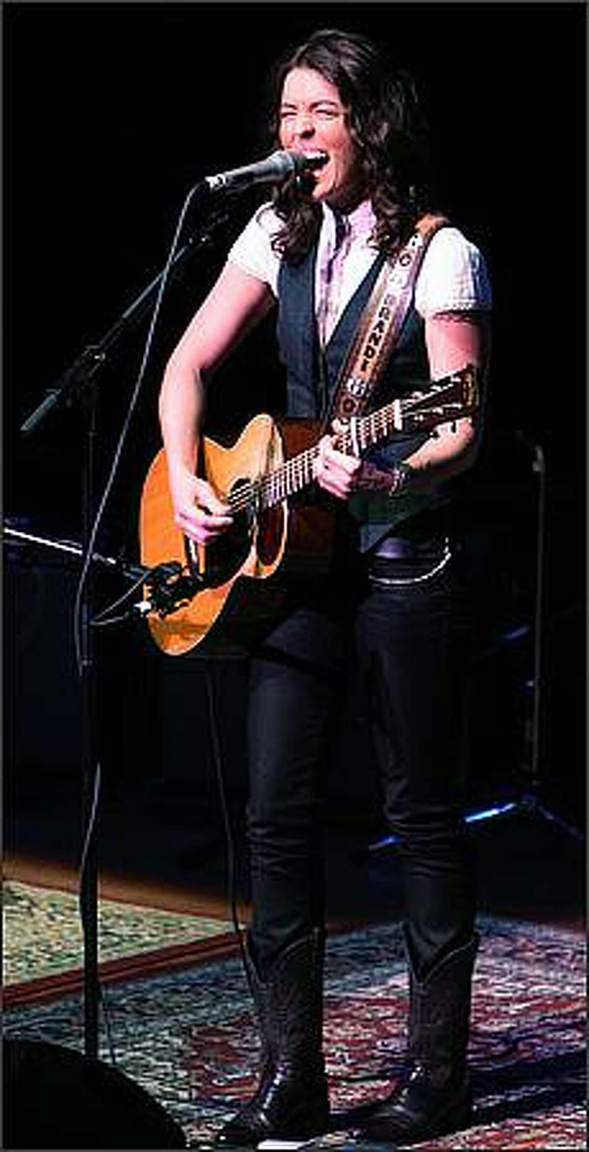 Brandi Carlile, a Seattle native, performs at Benaroya Hall.
