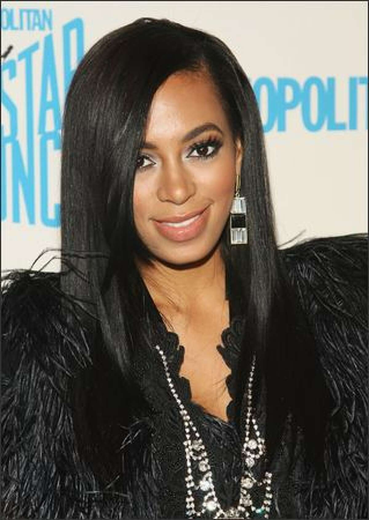 Singer Solange Knowles attends the Starlaunch Finale concert.