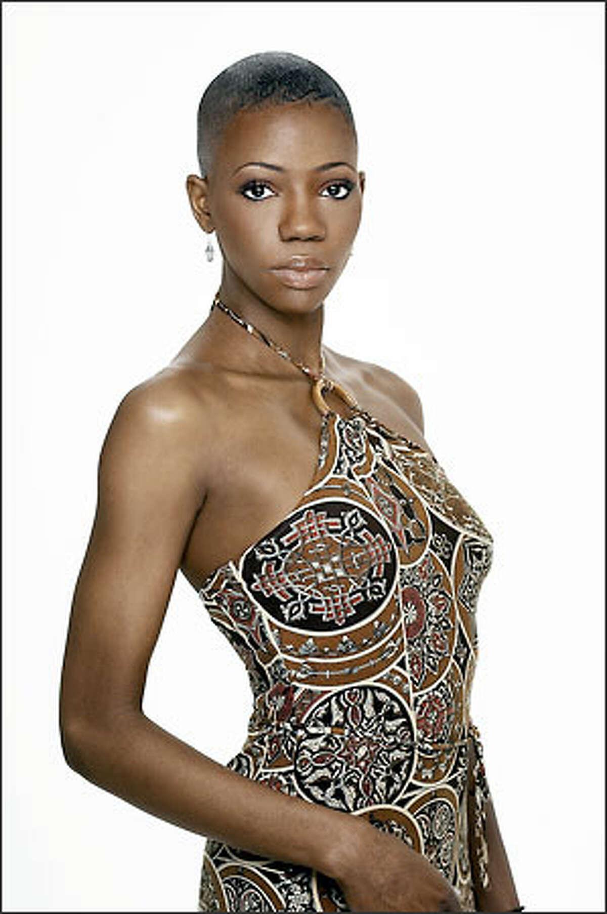 """""""America's Next Top Model"""" participant Ebony Haith."""