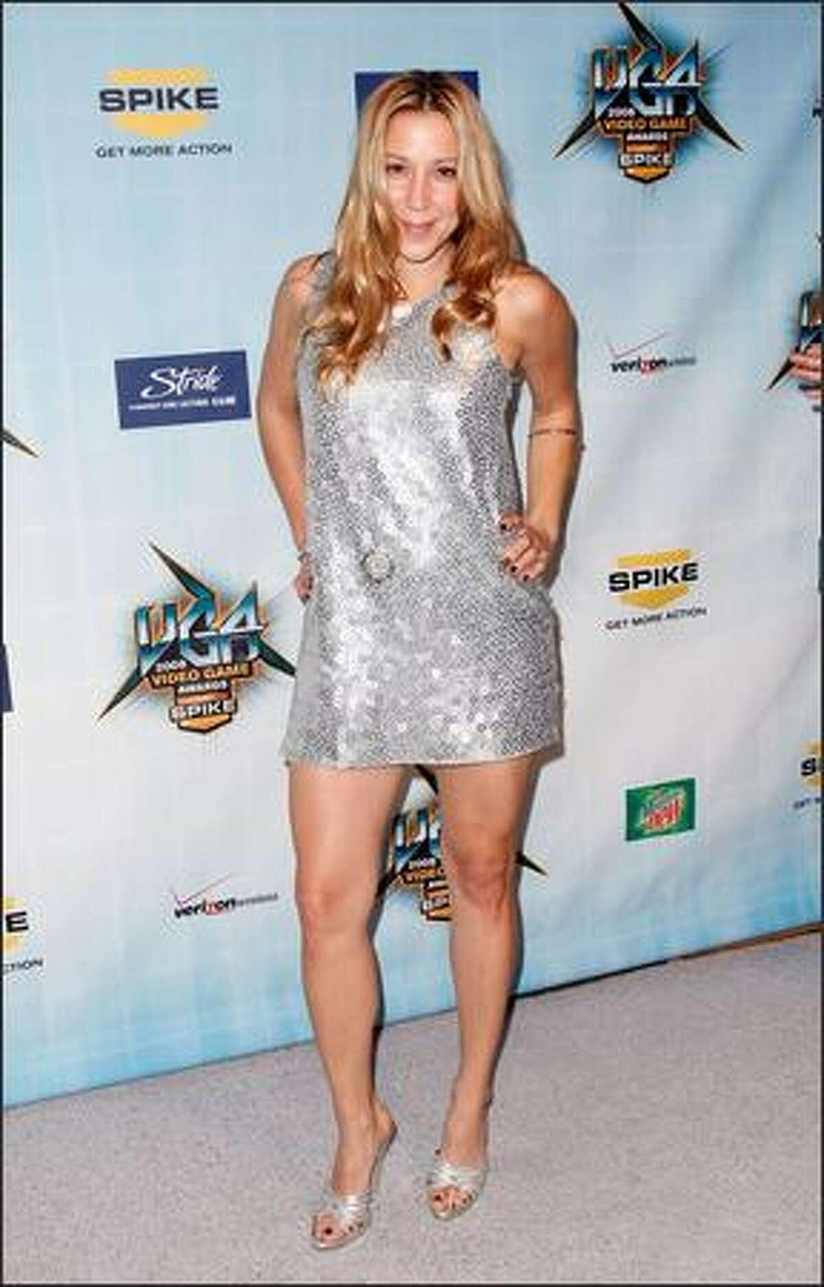 TV host Becky Baeling arrives at Spike TV's 2008