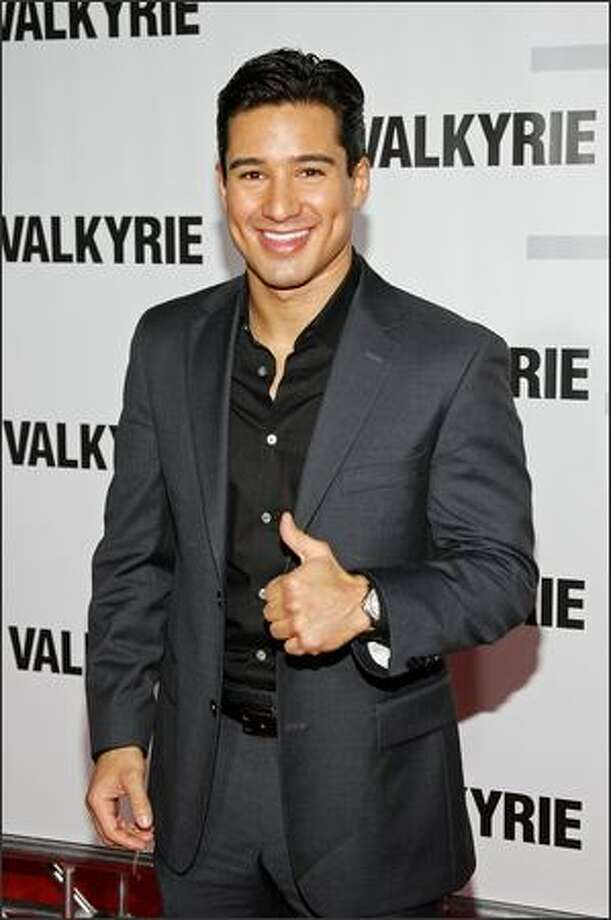 "TV host/actor Mario Lopez attends the premiere of ""Valkyrie"" at Rose Hall inside the Time Warner Center on Monday in New York City. Photo: Getty Images"