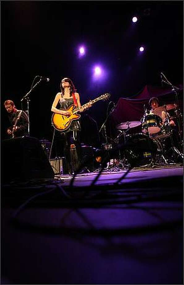 Kate Tucker and the Sons of Sweden perform at the Paramount Theater. Photo: Mike Kane, Seattle Post-Intelligencer
