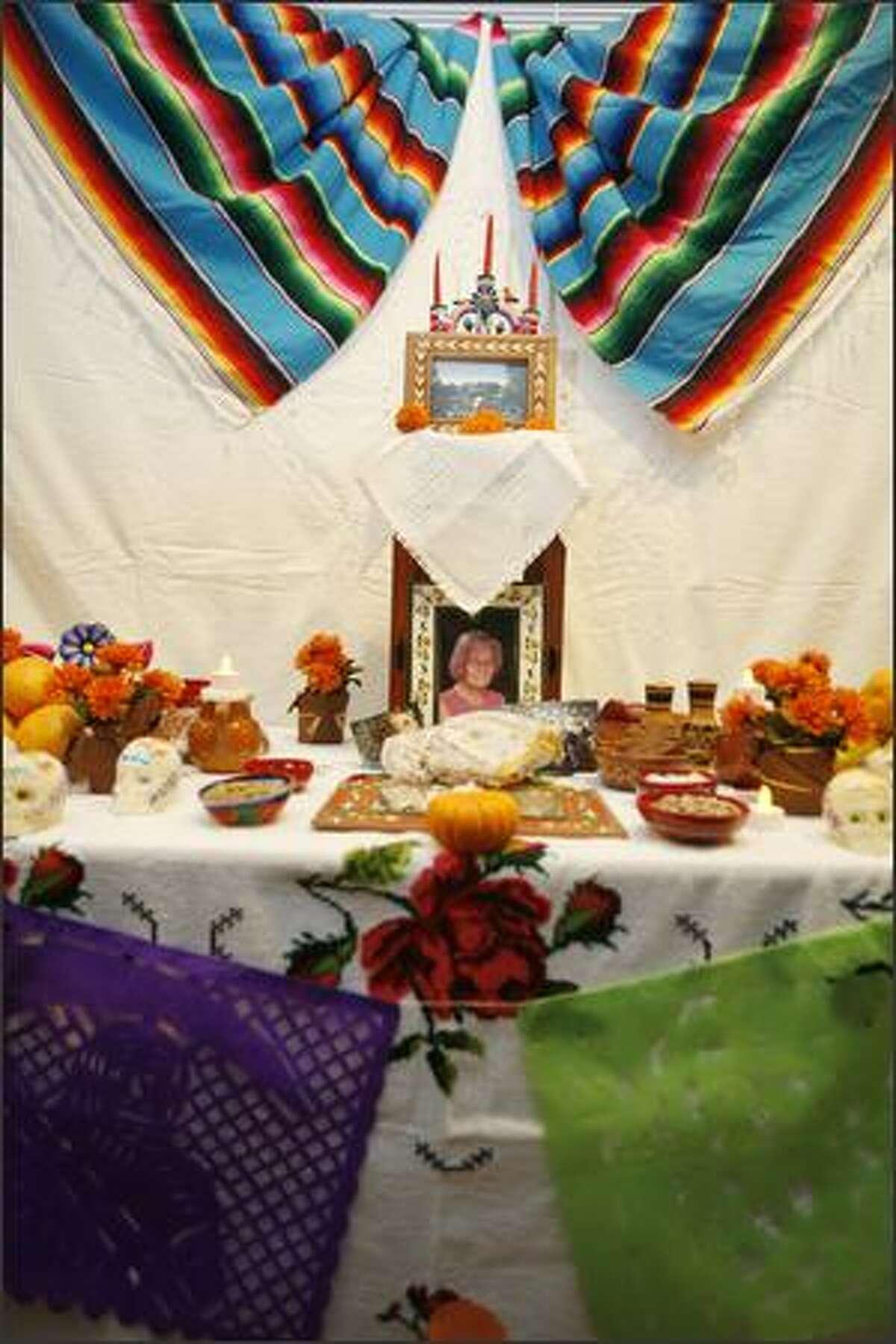 A Dia de Muertos altar.