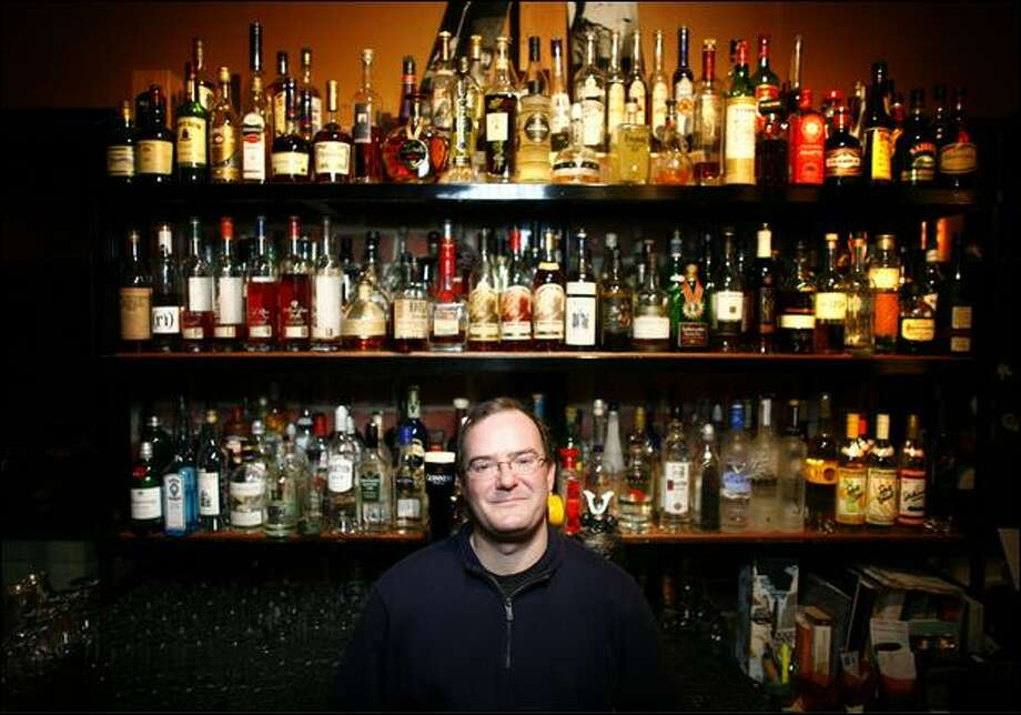 Paul Clarke, a national expert on the American cocktail, is shown at Liberty, a bar on Capitol Hill. Photo: Joshua Trujillo/Seattle Post-Intelligencer