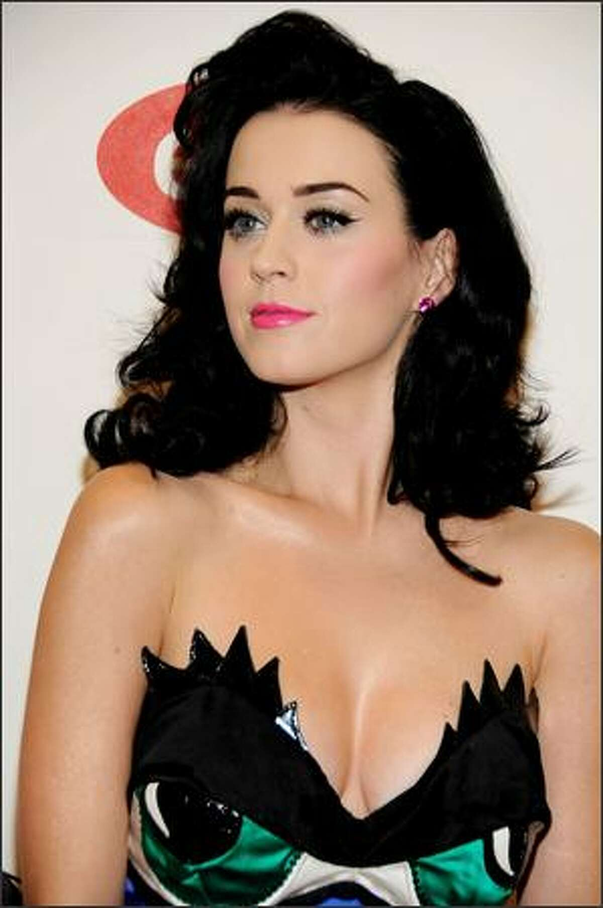 Host Katy Perry, also up for two awards, arrives for the 2008 MTV Europe Music Awards held at at the Echo Arena in Liverpool, England, on Thursday. Perry, a hot new star on the world music scene with singles