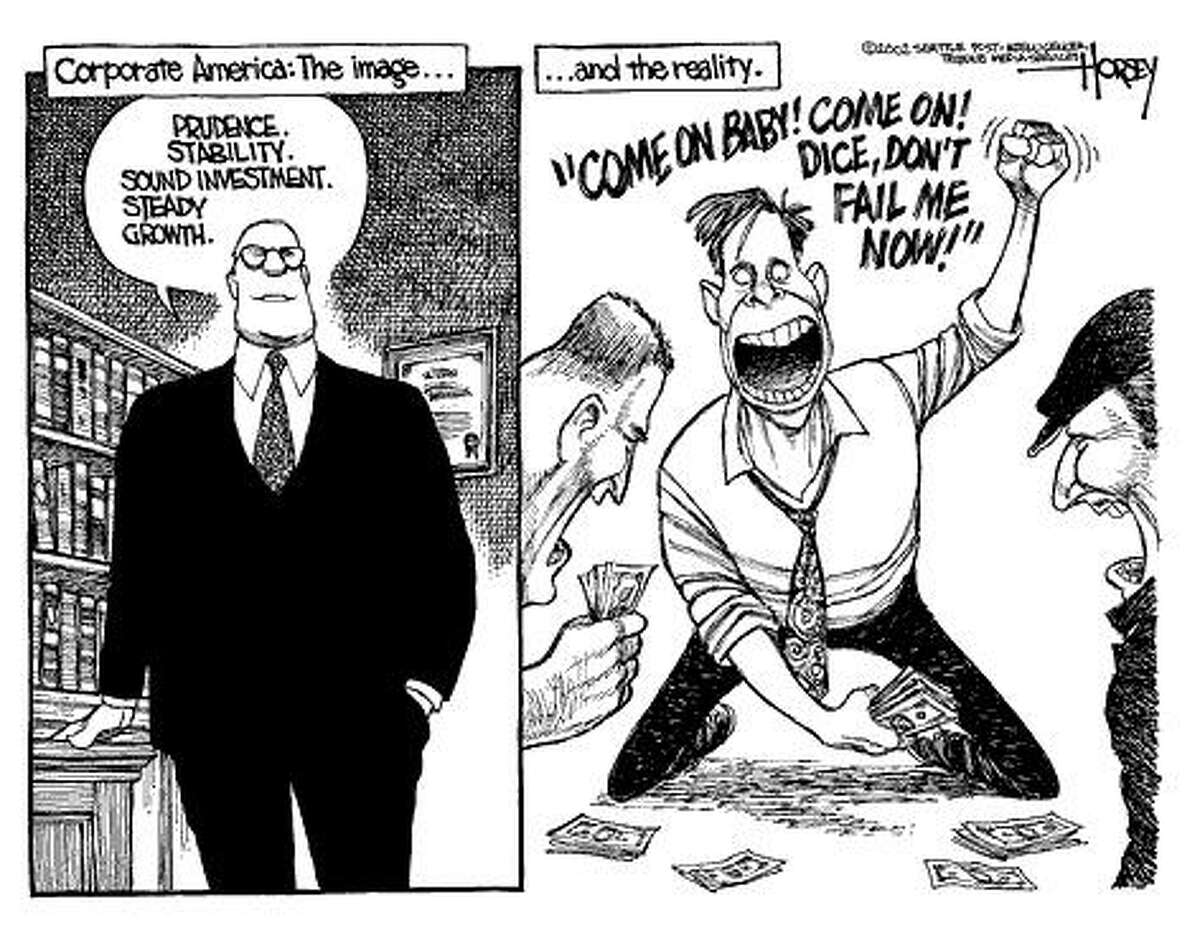 Corporate America's image. Published Feb. 13, 2002