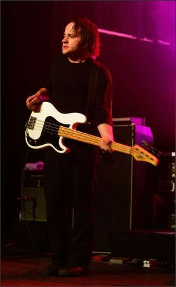 LAS VEGAS - DECEMBER 3: Death Cab for Cutie bassist Nick Harmer performs during a sold-out show at The Joint inside the Hard Rock Hotel & Casino December 3, 2006 in Las Vegas, Nevada. The band is touring in support of the album Plans. Photo: Getty Images