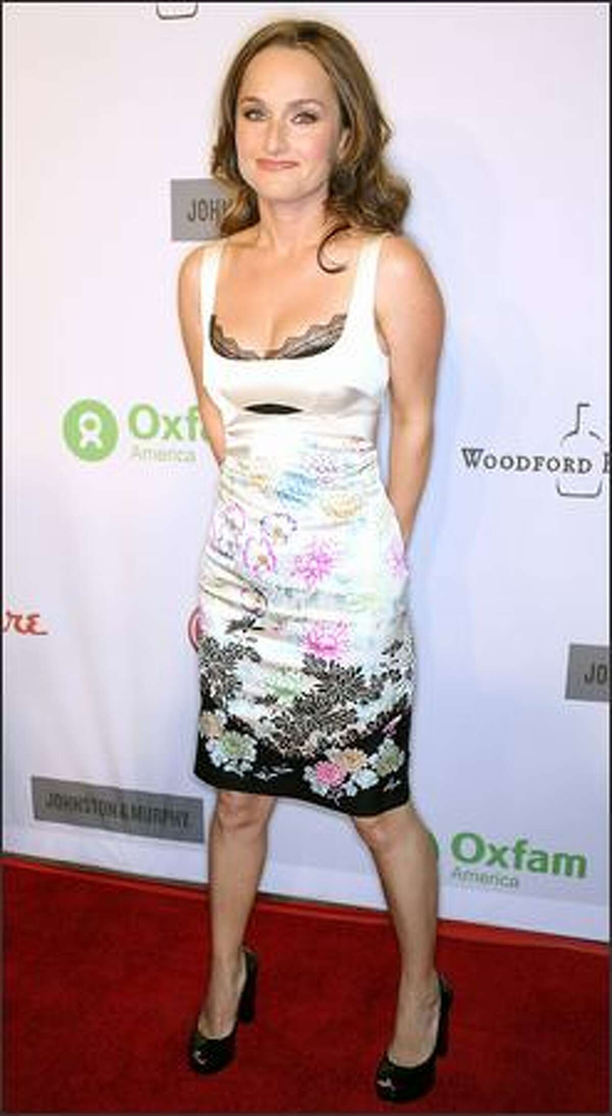 Chef Giada De Laurentiis arrives at the annual Oxfam party held at Esquire House in Hollywood.