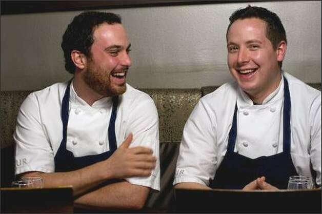 Chefs Brian McCracken, left, and Dana Tough of Spur Gastropub. Photo: StarChefs.com
