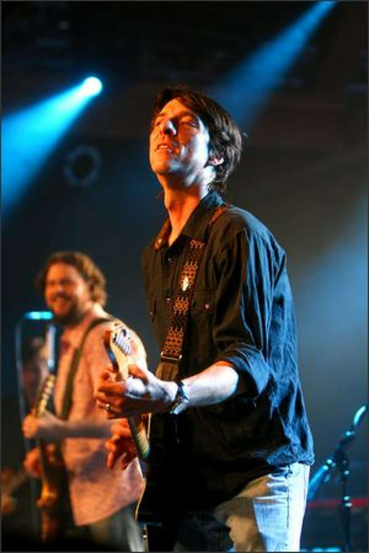 Guitarist and singer Mike Cooley of the Drive-By Truckers performs at the Showbox Sodo in Seattle on Thursday night.
