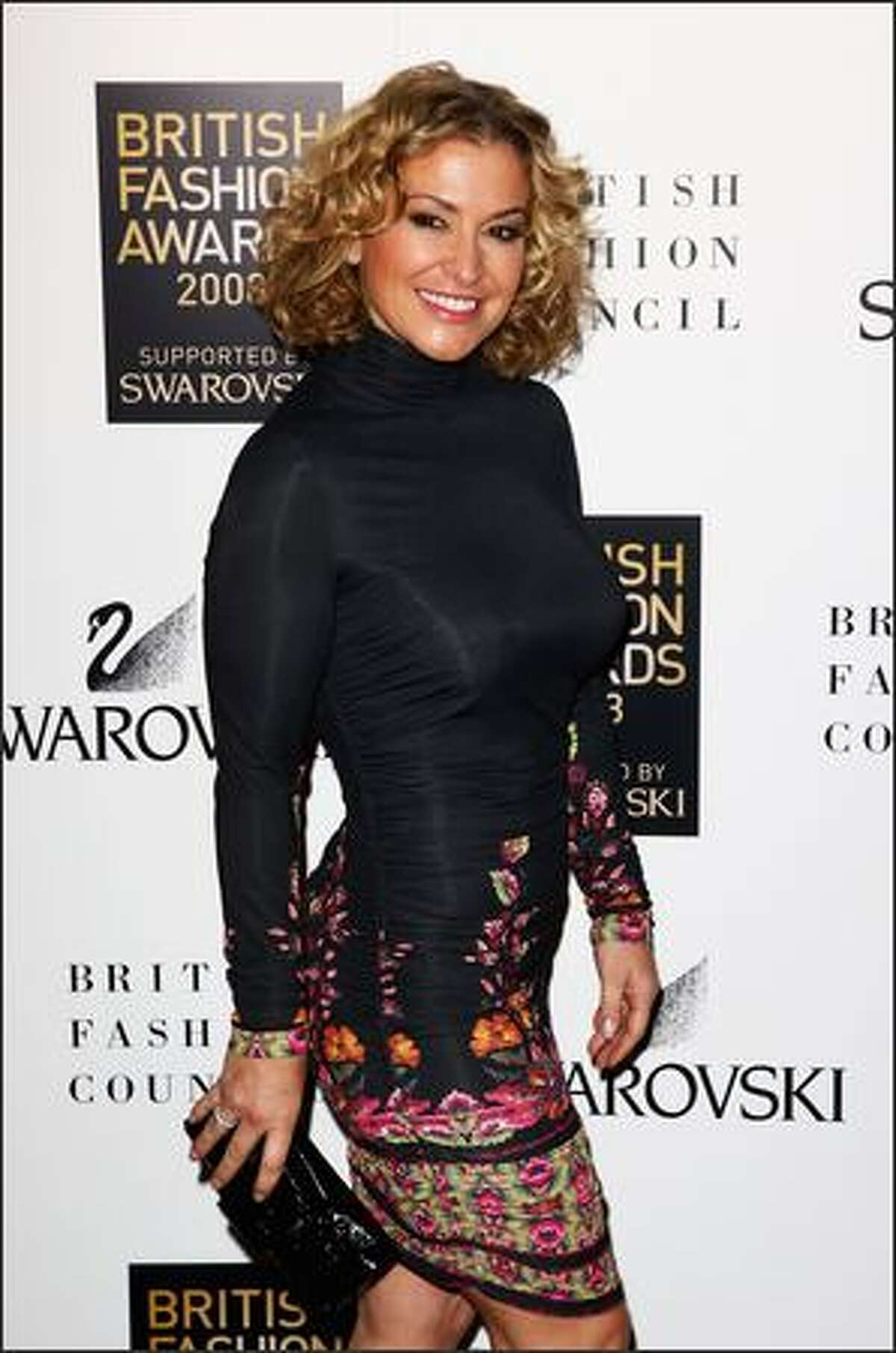 Singer Anastascia attends the British Fashion Awards 2008 held at The Lawrence Hall in London, England.