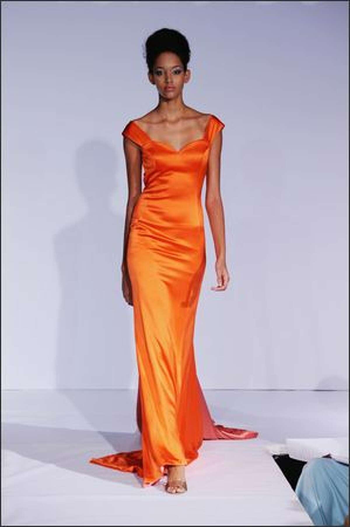 A model walks the runway at the B Michael show.