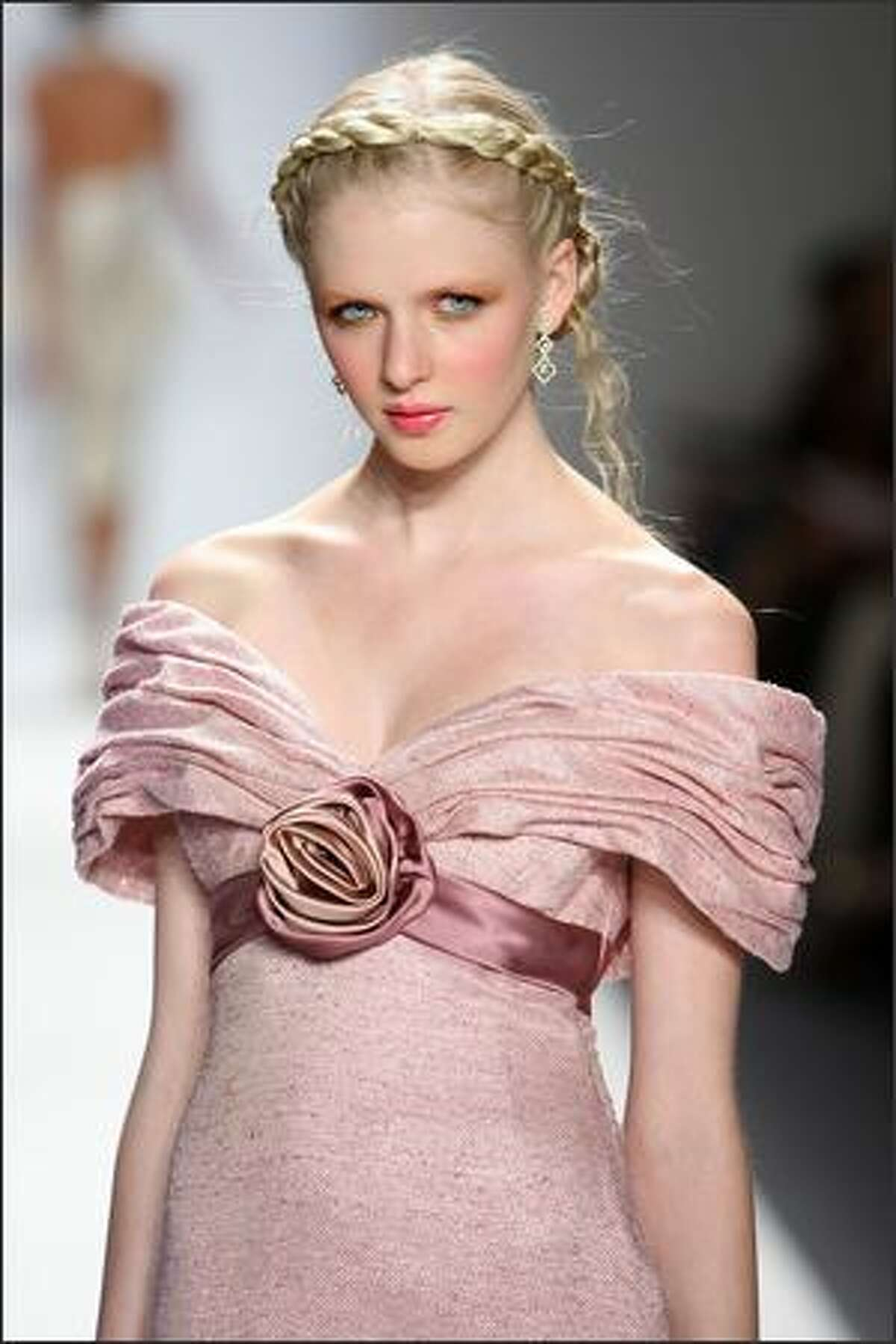 A model walks the runway at the Kati Stern/Venexiana show.
