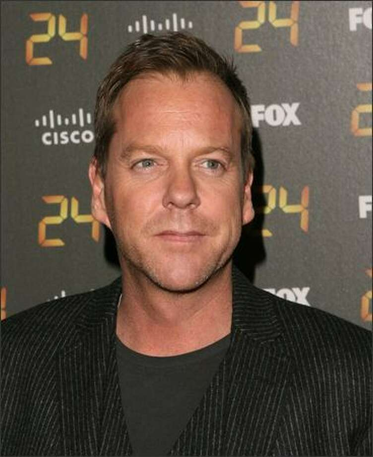 "Actor Kiefer Sutherland arrives at the ""24"" 150th Episode and Season 7 Premiere Party held at XIV on Tuesday in Los Angeles, Calif. Photo: Getty Images"
