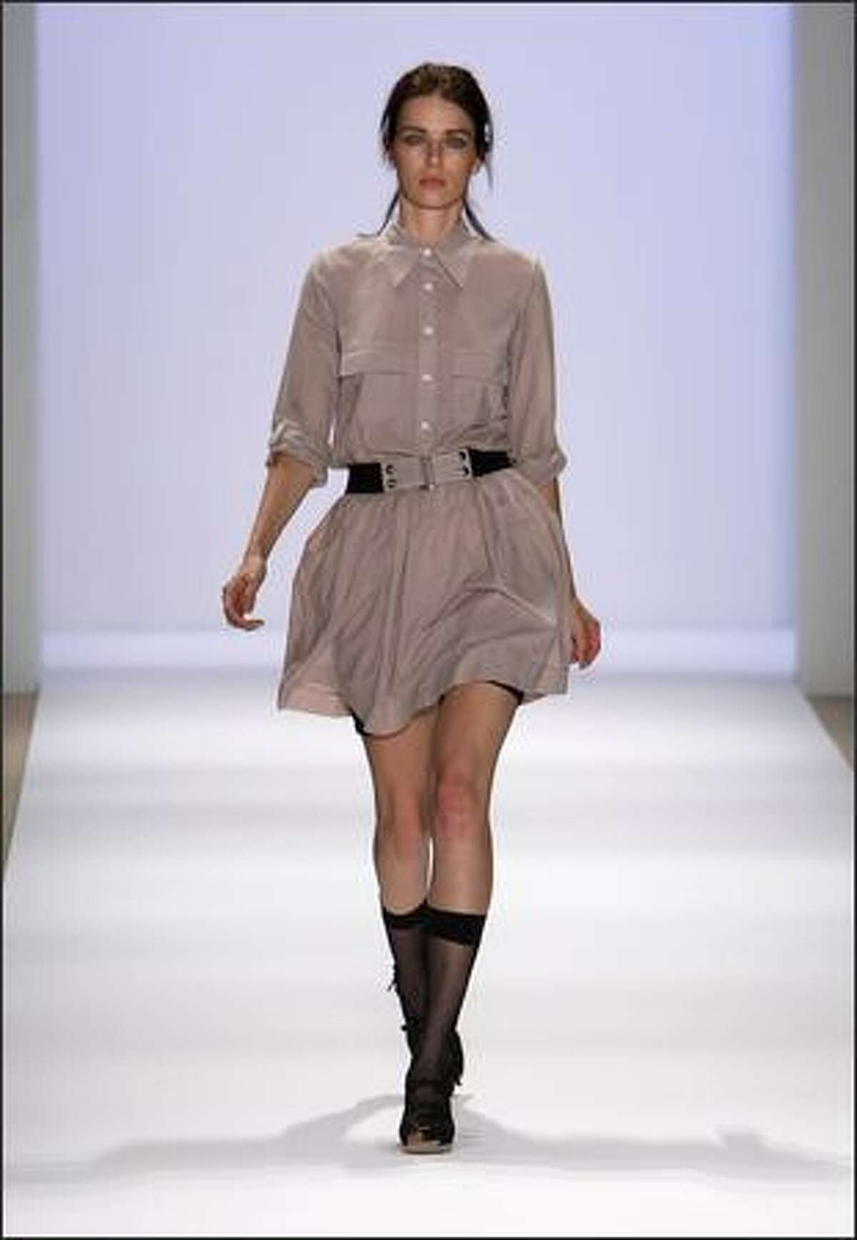 A model walks the runway during the Charlotte Ronson show.